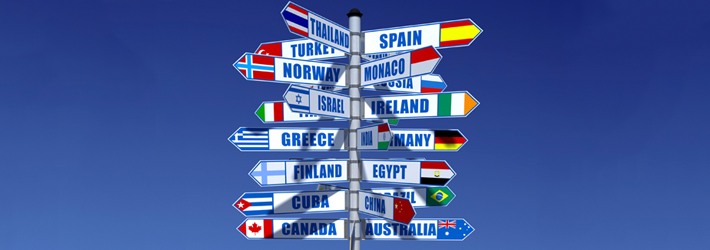 Worldwide Signposts to Different Countries