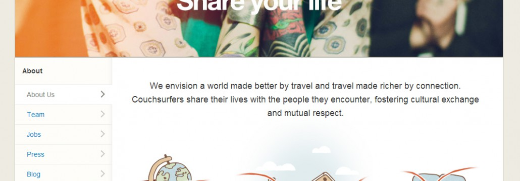 Couchsurfing.org screenshot