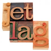 Image of the words Jet Lag